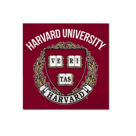 Harvard Vintage Wood Table Top Sign