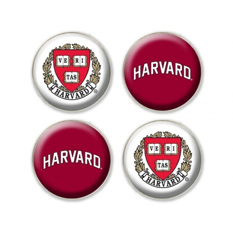 Harvard 4-pack Fridge Magnets