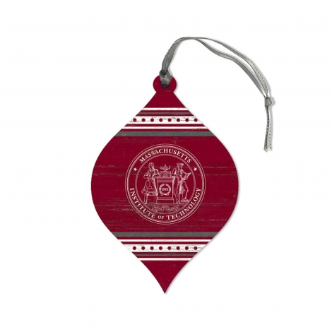 Harvard Wooden Teardrop Ornament