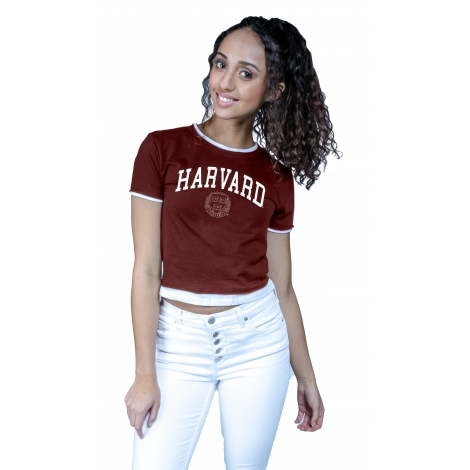 Women's Harvard Layered Crop Tee