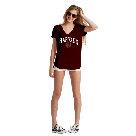 Women's Harvard Slub Double-V Tee Shirt