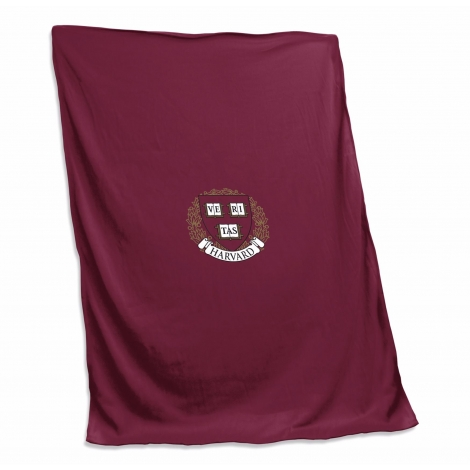 Harvard Embroidered Rolled Blanket