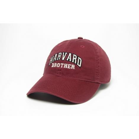 Harvard Brother Burgundy Unstructured Hat