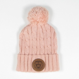 Harvard Cable Knit Pom Beanie