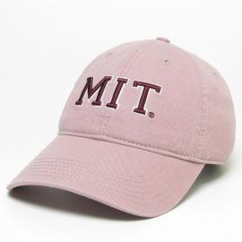 MIT Dusty Rose Block Logo Washed Twill Hat