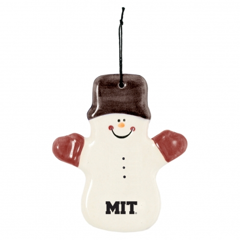 MIT Ceramic Snowman Ornament