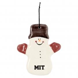 MIT Ceramic Snowman Ornament