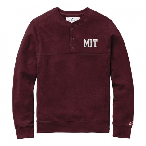 MIT Stadium 1/4 Snap Crewneck Fleece