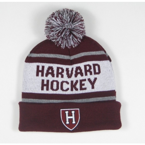 Harvard Hockey Knit With Pom