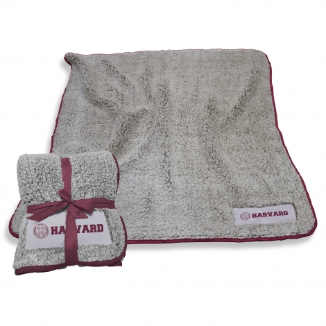 Harvard Frosty Fleece Sherpa Blanket