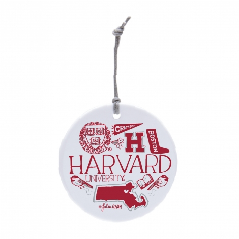 Julia Gash Harvard Ceramic Ornament