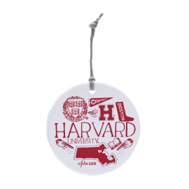 Harvard Julia Gash Ceramic Ornament