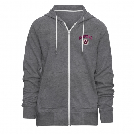 Harvard Camp David Raglan Full-Zip Hooded Sweatshirt