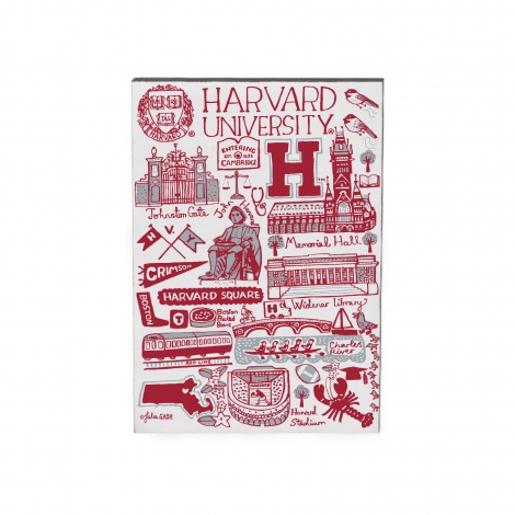 Julia Gash Harvard Jumbo Wood Magnet