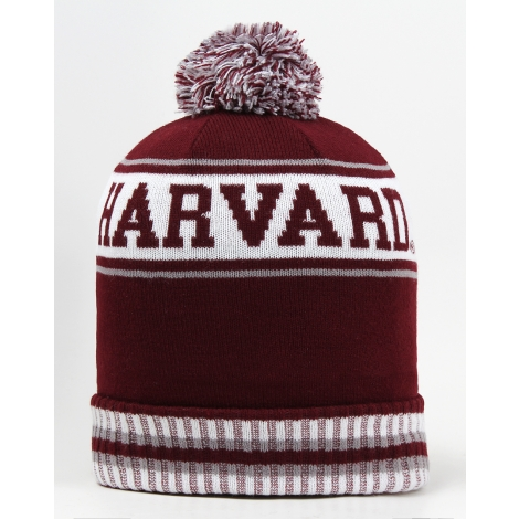 Harvard Fleeced Lined Knit with Pom