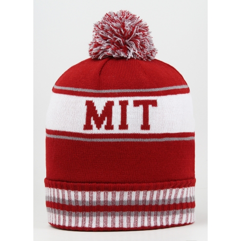 MIT Fleece Lined Knit Pom Beanie
