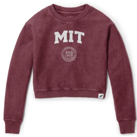 MIT Women's Timber Crop Crew Neck Corduroy Sweatshirt