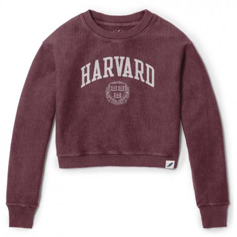 Harvard Women's Timber Crop Crew Neck Sweater