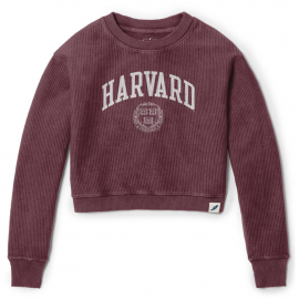 Harvard Women's Timber Crop Crew Neck Sweater