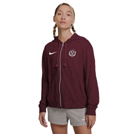 Harvard Women's Nike Gym Vintage Full Zip Hooded Sweatshirt