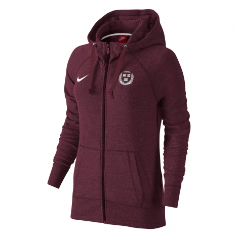 Harvard Women's Nike Gym Vintage Full Zip Hooded Sweatshirt