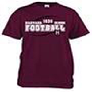 Youth Maroon Football Tee Shirt
