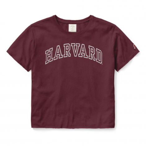 Women's Harvard Clothesline Cotton Crop Tee
