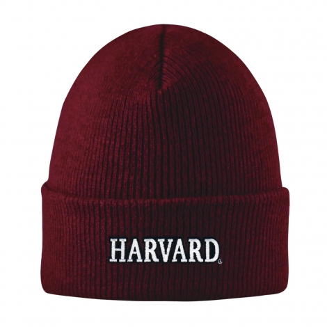Harvard Basic Knit Beanie With Cuff