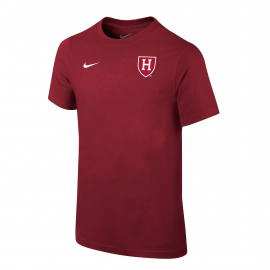 Harvard Nike Youth Athletic Shield Tee Shirt