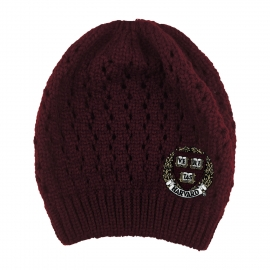 Harvard Honey Bun Winter Knit Hat