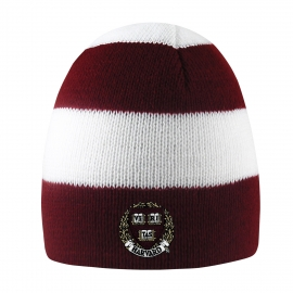 Harvard Rugby Stripe Knit Beanie
