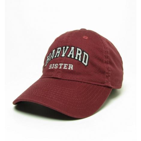 Harvard Sister Burgundy Unstructured Hat