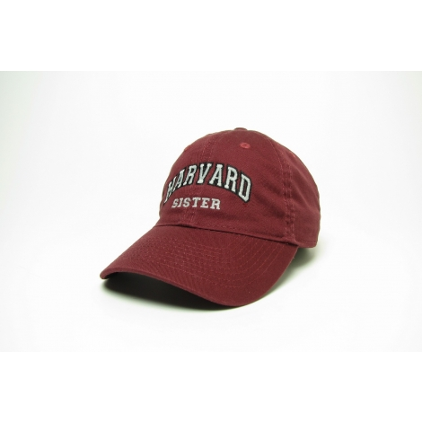 Harvard Sister Burgundy Unstructured Hat