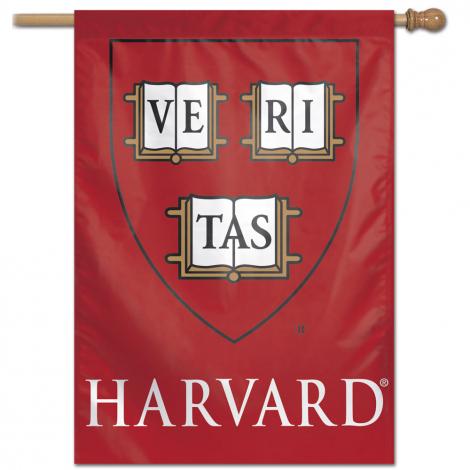 Harvard Shield Vertical Flag