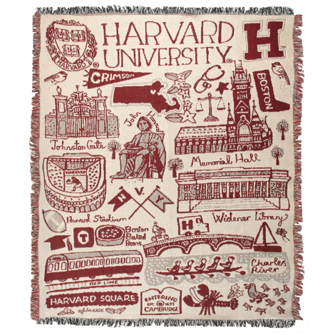 Julia Gash Harvard Tapestry Blanket