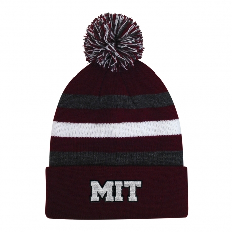Youth MIT Halftime Knit With Pom