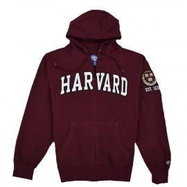 Harvard Embroidered Full Zip Sweatshirt with Sleeve Logo