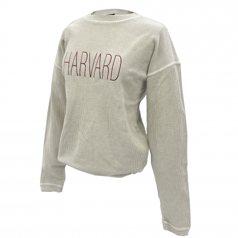 Harvard Women's Corded Cotton Crew Neck Sweatshirt