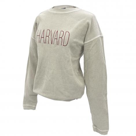 Harvard Women's Corded Cotton Crew Neck Sweatshirt
