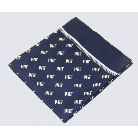 MIT Navy Contemporary 100% Silk Scarf