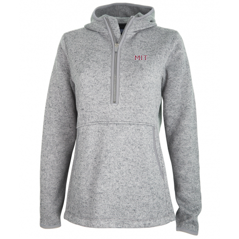 MIT Women's 1/4 Zip Sweater Fleece Hood