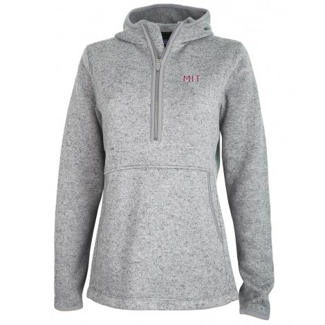 MIT Women's 1/4 Zip Sweater Fleece Hood