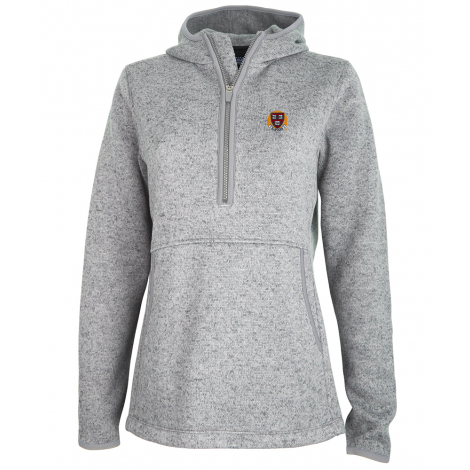 Harvard Women's 1/4 Zip Sweater Fleece Hood