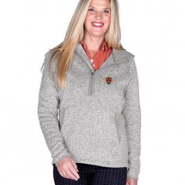 Harvard Women's 1/4 Zip Sweater Fleece Hood