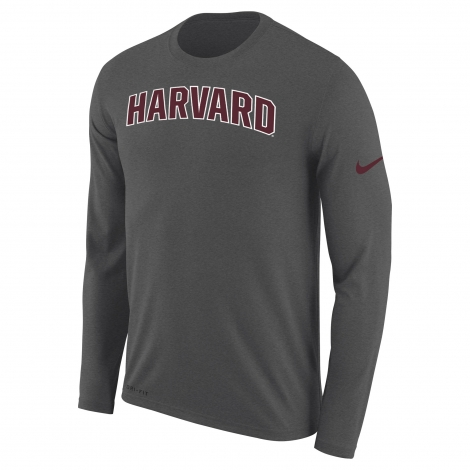 Harvard Nike Arched Logo Dri-Fit Legend Long Sleeve Tee