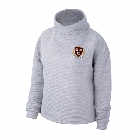 Harvard Women's Top Of The World Wrapped Funnel Neck Pullover