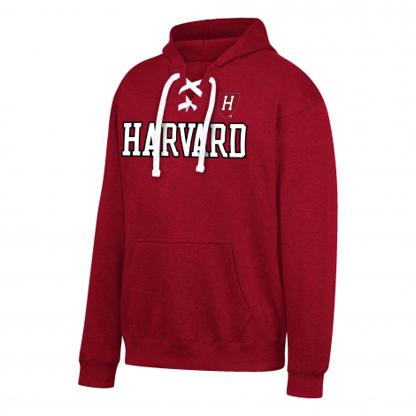 Harvard Laced Crimson Hockey Hood
