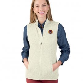 Harvard Women's Heathered Sweater Fleece Vest