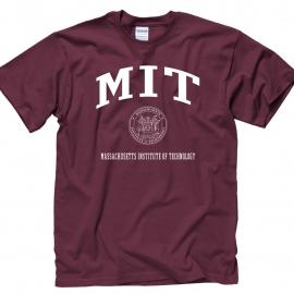 MIT w/Seal Maroon T Shirt