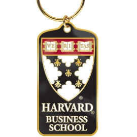 Harvard Business School Brass Keytag